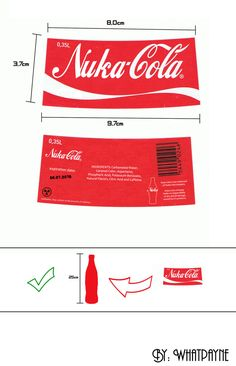 """Here it is. I decided to release this Nuka-Cola Label which I used in My """"Nuka-Cola Fallout style"""" deviation. You can see it here. Just in case anyone wants to make their own bottles. I added a sim..."""
