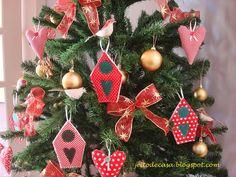 Enfeites de tecido para árvore de natal!!! - Jeito de Casa - Blog de Decoração