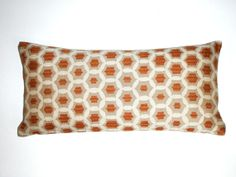Lumbar Pillow  8x16  Petite Lumbar  Orange Lumbar by couchdwellers, $16.00