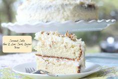 Coconut Cake- a yummy take on a Spring Time Coconut Cake that you can eat on a sugar free, healthy fat lifestyle! Completely THM Friendly!