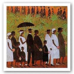"One of my favorite paintings    Amazon.com: Funeral Procession by Ellis Wilson 5.625""x6"" Art Print Poster African-American: Home & Kitchen"
