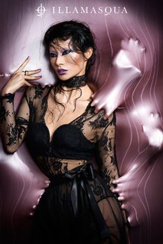 Illamasqua Paranormal Collection for Summer 2013 Beauty Without Cruelty, Fancy Hands, Picture Places, Black Lingerie, Lingerie Silk, Cybergoth, Stunningly Beautiful, Classic Collection, Beautiful Lingerie