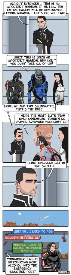 Mass Effect-why all of your squadmates can't come on missions