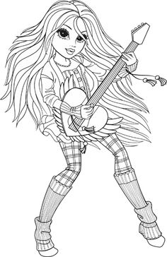 Moxie girlz coloring