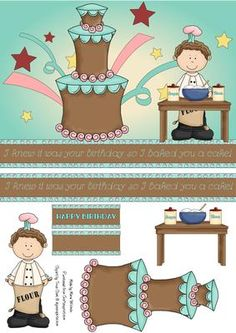Made By Marie - New card step by step decoupage at CUP http://www.craftsuprint.com/card-making/step-by-steps/birthday/birthday-cake.cfm