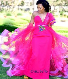 15 Traditional Wedding Dresses and Where To Find Them South African Dresses, Wedding Dresses South Africa, South African Traditional Dresses, African Wedding Attire, African Lace Dresses, African Dresses For Women, African Fashion Dresses, Tsonga Traditional Dresses, Traditional Dresses Designs