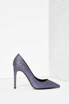 Jeffrey Campbell Dulce Pump - Glitter | Shop The Party Shop at Nasty Gal