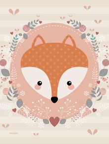 Leading Illustration & Publishing Agency based in London, New York & Marbella. Woodland Animals Theme, Woodland Creatures, Nursery Prints, Nursery Art, Cute Images, Cute Pictures, Image Deco, Fox Party, Baby Posters