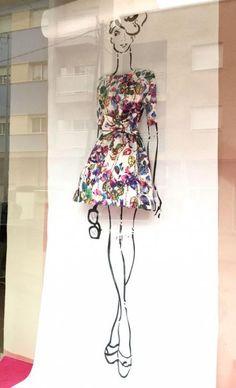 effect, window display, retail display fashion displays, clothing displays, fashion store Design Shop, Flower Shop Design, Window Display Design, Store Design, Fashion Window Display, Fashion Displays, Store Window Displays, Clothing Displays, Retail Displays