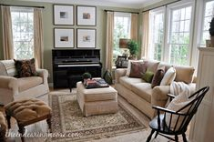 Charming Home Tour ~ The Endearing Home Living Room Makeover - The Endearing Home Piano Living Rooms, Living Room Decor Tips, Living Room Furniture Layout, Formal Living Rooms, Small Living Rooms, Living Room Inspiration, Living Room Modern, My Living Room, Home And Living