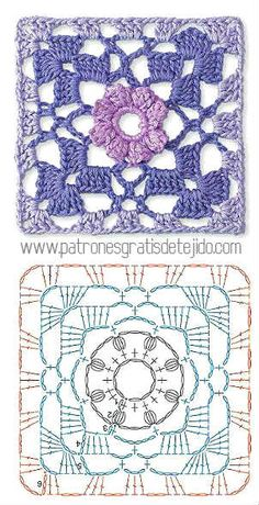 Transcendent Crochet a Solid Granny Square Ideas. Inconceivable Crochet a Solid Granny Square Ideas. Crochet Motifs, Granny Square Crochet Pattern, Crochet Blocks, Crochet Diagram, Crochet Stitches Patterns, Crochet Chart, Crochet Squares, Crochet Granny, Granny Squares