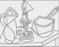 Pintores famosos: Pablo Picasso para niños. Cuadros para colorear. .