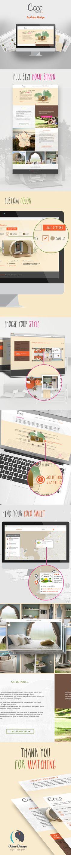 Coco-Sweet web : http://www.mobilhome-coco.com #webdesign #responsive  #iphone #app #interface #flatdesign #menu #ux #ui #design
