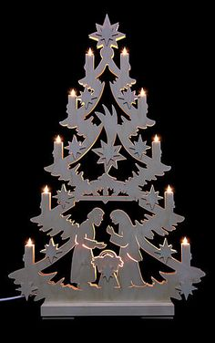 Authentic German Gift Light Triangle - Christmas Tree by Michael Müller for € at the Erzgebirge Palace Christmas Nativity, Christmas Wood, Christmas Projects, Christmas Lights, Holiday Crafts, Christmas Holidays, Christmas Ornaments, Christmas 2017, Xmas Tree