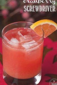 Cranberry Screwdriver With Cranberry Vodka, Orange Juice, Grand Marnier Orange Juice Cocktails, Cranberry Juice And Vodka, Grapefruit Cocktail, Orange Vodka, Cocktail Drinks, Malibu Rum, Coctails Recipes, Drink Recipes, Juicing Benefits