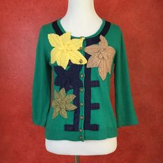 Anthropologie Field Flowers Green Sweater Condition: used. Tag has permanent marker spot. Normal wear. • NO TRADES Anthropologie Sweaters Cardigans