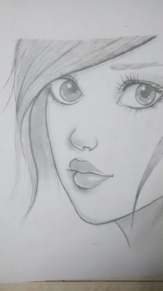 How to draw a face. Face Proportions by Nadia Coolrista – Art World 20 Disney Drawings Sketches, Pencil Drawings Of Girls, Girl Drawing Sketches, Girly Drawings, Art Drawings Sketches Simple, Abstract Pencil Drawings, Easy Drawings Of Girls, Drawing With Pencil, Simple Pencil Drawings