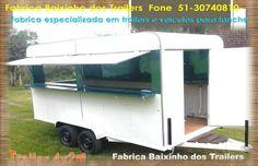 Trailers Food Truck Transformação de veículos para lanches Kombis foodtruck Reboques Carrinhos de lanches FoodBikes Pet shop trailer Motorhome Fone : 51/31125350/30740810/991016996 whats Fab...