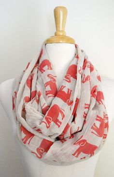 SAVE THE ELEPHANTS Infinity Loop Cricle Scarf by AnytimeScarf, $34.00