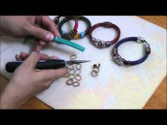 Crimping Metal Spacers on Regaliz & Euro Leather Cord Tutorial - Beginner