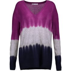 Autumn Cashmere Tie-dye cashmere sweater (4.045 CZK) ❤ liked on Polyvore featuring tops, sweaters, violet, purple sweater, loose tops, cashmere tops, loose fitting sweaters and tie-dye tops