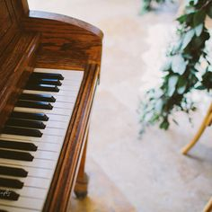 Wedding Ceremony  Piano + eucalyptus + French-style chairs  Event Design by Marianna Idirin