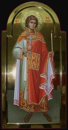 Phanourios, the newly revealed. Byzantine Icons, Byzantine Art, Religious Icons, Religious Art, Paint Icon, Russian Icons, Orthodox Christianity, Catholic Saints, Orthodox Icons