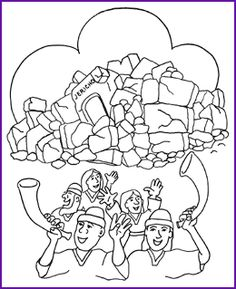 Joshua Wall of Jericho Coloring Page