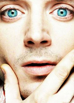 His eyes look like Earth from space. So beautiful