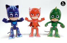 "Amazing cardboard figures ""PJ MASKS"" Disney."