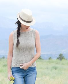 I have so enjoyed sharing the Summer Vacation Knit Top, the Little Black Tank and now this 'Easiest Classic' knit sleeveless top made with Lion Brand Super Wash Merino yarn. While the other two knitting patterns feature mesh, this one is probably the most versatile as it's almost completely done in stockinette and has a cut that's appropriate for the office or the weekends. One of the first patterns that I shared on the blog was for fingerless mitts, knit flat. The main rea...