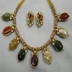 exclusive collection of Navaratn Nacklace in Fine Finish jewellery which Available in various design and patterns at Affordable Prices.