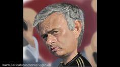 Jose Mourinho Caricatura - Speed painting por Marisa Montenegro