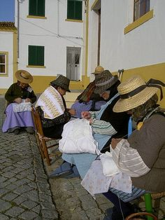 Alentejo - older women and their embroideries, Portugal Santiago Do Cacem, Homecoming Spirit Week, Mein Land, Art Tribal, Portuguese Culture, Living In Europe, Visit Portugal, Family Roots, Le Havre