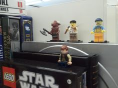 LEGO Minifigures line our special sales manager's desk