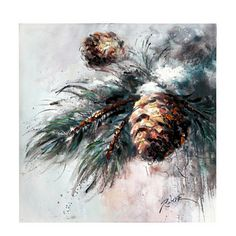 Skip the sappy pine for a more oil-based model of holiday foliage! Our Frazier Fir with Pine Cones Canvas Art Print is a festive art piece for your wall decor! Painted Christmas Cards, Christmas Art, Canvas Art Prints, Canvas Wall Art, Illustration Noel, Winter Painting, Christmas Paintings, Diy Canvas, Christmas Pictures