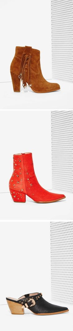 #omgshoes - Kate Bosworth x Matisse collaborated on the ultimate star studded hot weather booties @nastygal