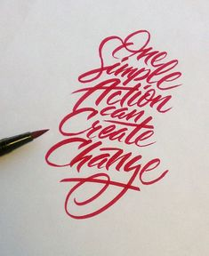 brush Pen / One Simple Action Can Create Change Neil Secretario