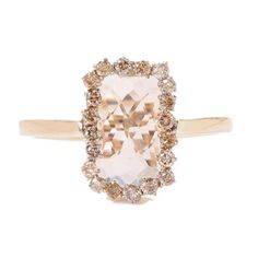 That halo is so unique! Suzanne Kalan Green Amethyst Ring with Champagne Diamonds.  GIVE IT TO ME NOW!!! I wish this was my ring