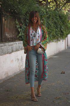 Hippie Chic Outfits, Boho Outfits, Classy Outfits, Casual Outfits, Moda Hippie, Moda Boho, Boho Chique, Mode Kimono, Ibiza Fashion