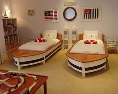 so fun for the kids to share a nautical room.   Nautical Design, Pictures, Remodel, Decor and Ideas - page 10
