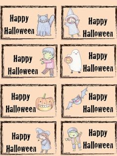 Classroom Freebies Too: Halloween Treat Toppers and Tags