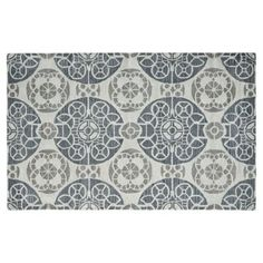 Check out this item at One Kings Lane! Bleeker Rug, Blue/Silver