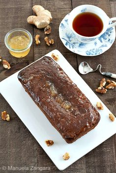 A delicious British recipe: Sticky #Ginger Marmalade #TeaLoaf with a delicious ginger #marmalade glaze.