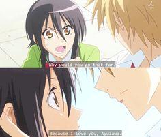Ayuzawa Misaki & Takumi Usui - Kaichou wa Maid-sama! - Anime(gif) ~ love this anime;}