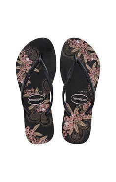 a767137a69bdd9 Havaianas Slim Organic Black and Dark Grey Sandal