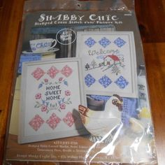 SHABBY CHIC STAMPED CROSS STITCH PICTURE KIT #99456  | eBay