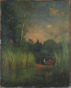 George Inness - Dusk in the Rushes