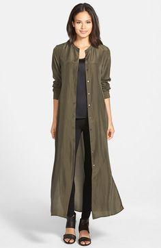 Women's Eileen Fisher Sand Washed Habutai Silk Maxi Dress