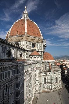 Duomo, Florence, Italy. The largest brick dome ever constructed. The structure was completed in 1436.